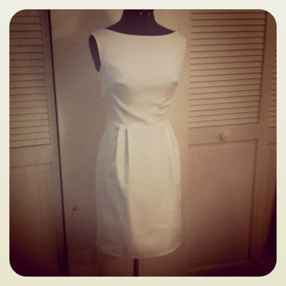 Simple Wedding Dress, Knee Length, Vintage inspired- Darling Say I Do