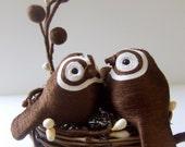 Simple Love Wedding Nest-Bird Cake Topper
