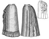 Truly Victorian 1885 Four gore petticoat  costume Pattern TV261