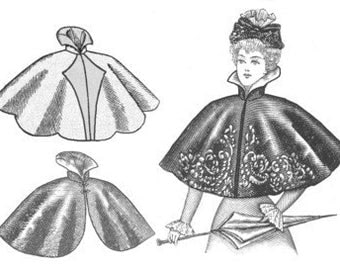 Truly Victorain ladies 1890's Cape mantle sewing pattern TV590
