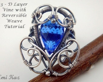 Wire Wrapped Jewelry Tutorial - Wire Weaving Ring - 3-D Layer Vine Ring with Reversible Weave