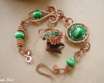 Wire Wrapped Jewelry Tutorial - Bracelet and Ring - The Fundamentals Of Intermediate Wire Wrapping