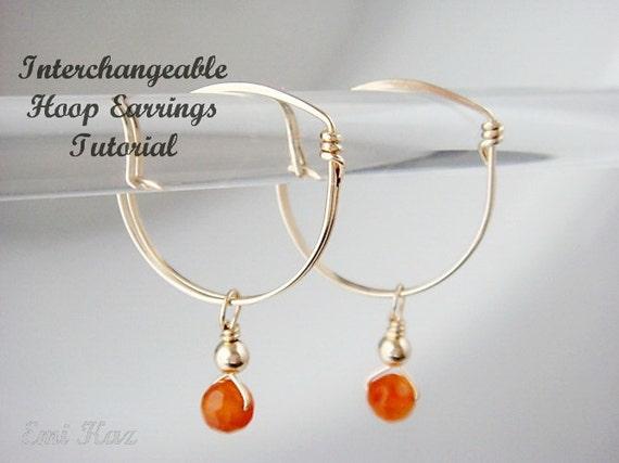 Wire Wrapped Jewelry Tutorial - Interchangeable Charms Hoop Earrings