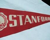 1960s Vintage Stanford University Pennant