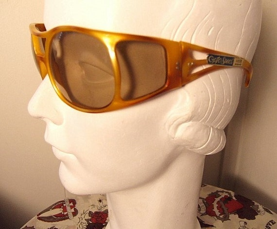 Wrap Around Sunglasses Side Shield Goggles Vintage 70 S