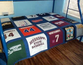 Think Birthday Create a  Memory Tshirt Quilt with your own Tshirts 20 Shirts