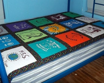 Think Graduation and Create a Custom Made for you Quilt from Your Tshirts