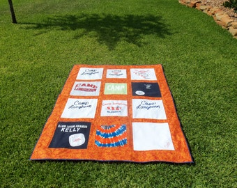 Create a Camp Quilt for your Child out of  Tshirts