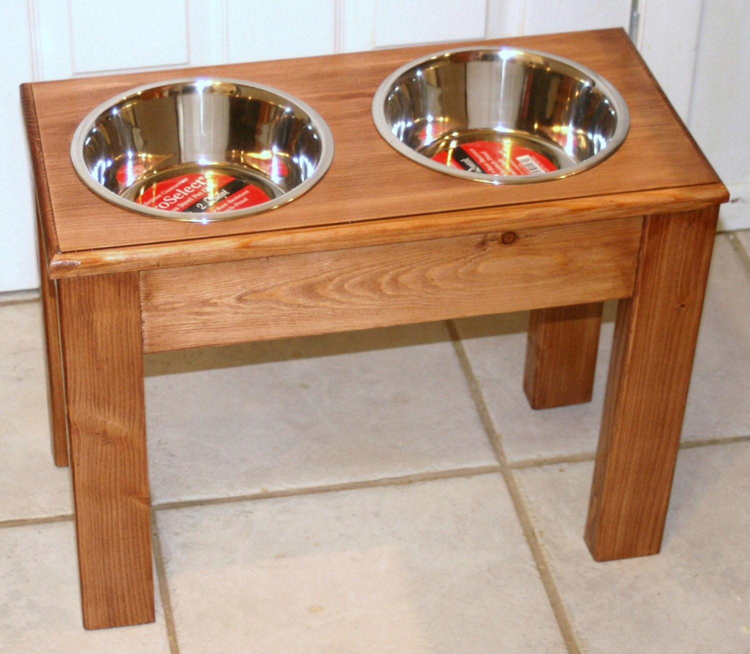 Raised Elevated Dog Food Dish Bowl Large Stand New feed