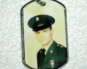 Custom Military Photo Dog Tag   necklace