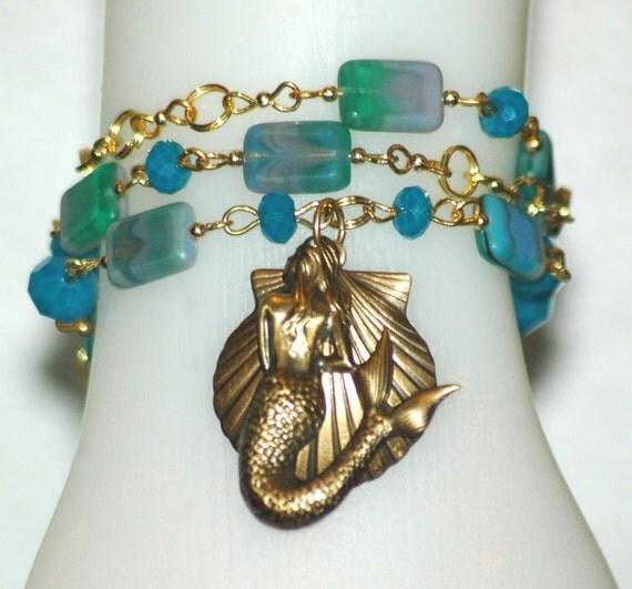 Dual functioning  Mermaid Fantasy  Necklace/Bracelet