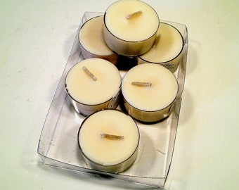 6 Pack Buttercream Frosting Soy Tea Lights