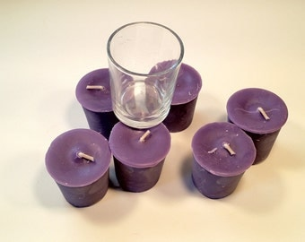 6 Pack Violet Soy Votives