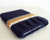 Laptop sleeve macbook sleeve apple bag case marine blue mustard knitted 13 inch