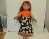 Halloween Boo Ghosts Long Dress headband American Girl Doll Clothes Ready to Ship