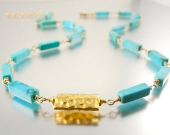 Turquoise Linear Necklace