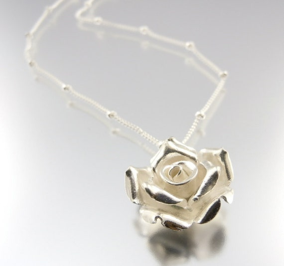 SALE Rose Necklace