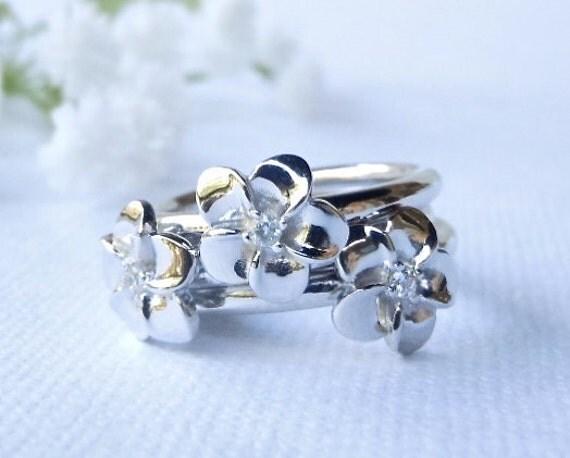 SALE Plumeria Sparkle Ring s9