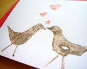 Love birds - card