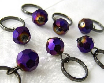 Burning Chrome - Seven Snag Free Stitch Markers - Fits Up To 8.0 mm (11 US) - Open Edition