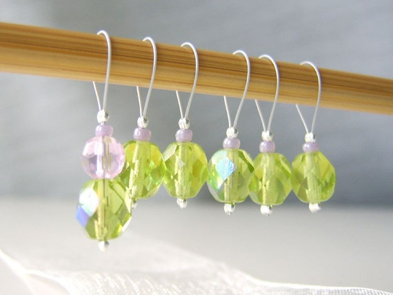 The Cathedral is a Gothic Forest - Six Snag Free Stitch Markers - Fits Up To 5.5 mm (9 US)