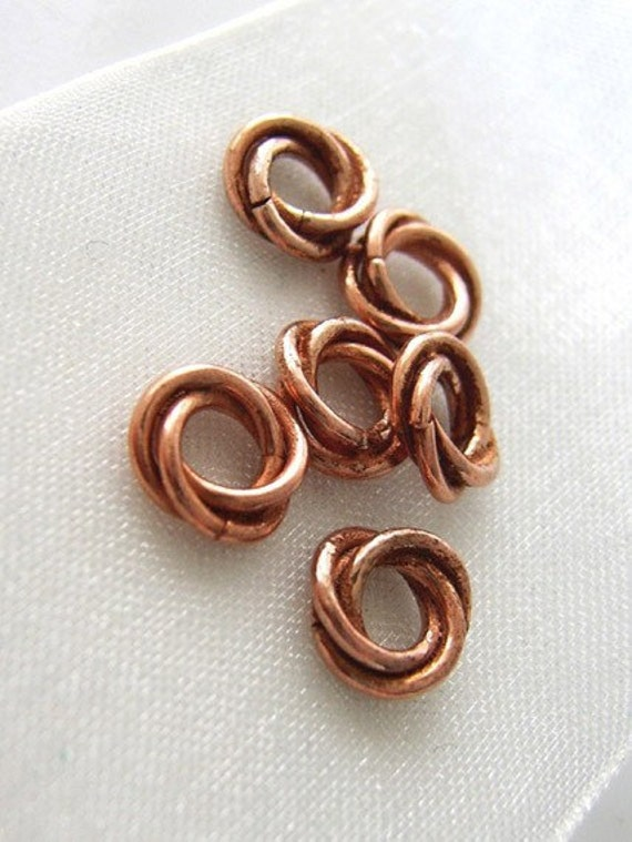 Last Set SALE - The Sunset Caught Me - Six Sock Sized Copper Stitch Markers - Fits Up To 3.25 mm (3 US)