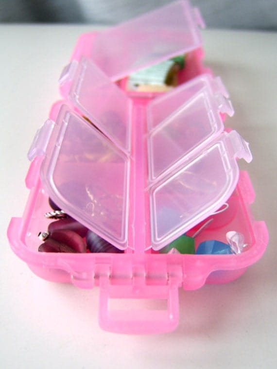 LAST ONE - Snap 'n Go Notions Case - Original - On-The-Go Accessory for Knitters and Crocheters - Pretty in Pink