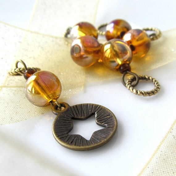 LAST SET - Shine On - Six Handmade Stitch Markers - Fits Up To 5.0 mm (8 US) - Limited Edition