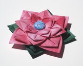 RESERVED FOR ZIGARTS...Beautiful Blush Pink Hand Dyed Fabric Flower Pin (Brooch)
