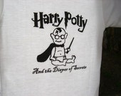 Harry Potty And the Diaper of Secrets - hand screen print onesie