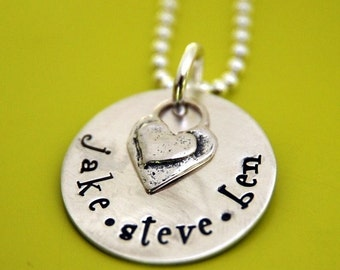 GET PERSONAL Sterling Silver Hand Stamped Name Tag Pendant Necklace