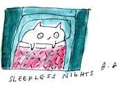 Cat Art Print- Symptoms May Include- Pet Art