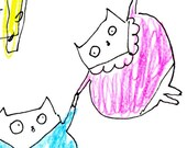 After Chagall- Cat Art Print