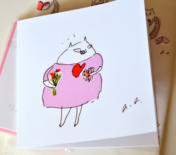 The Dancing Cat Book- Please Like Me- Small Edition- ONLY 1 LEFT