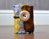 Cheery - a fabric scrap cuff