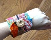 Brilliant - a fabric scrap cuff