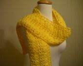 Butterscotch Yellow Scarf - Hand Crocheted
