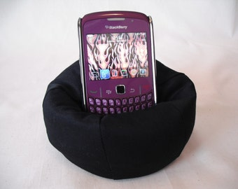 Cell Phone Bean Bag Chair or Kindle Kouch (eReader Rest) Solid Black