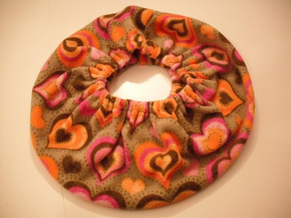 RaToob, Brown Pink Orange Hearts on Tan