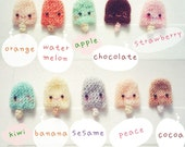 20pcs Ice-Cream Super Cute set - Amigurumi Sweet by Ami Cafe' - MADE TO ORDER