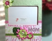 Mom in Greens and Pinks 4x6 photo frame for Mother's Day