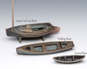 Bronze Grand Banks Dory, sand cast fishing boat sailing