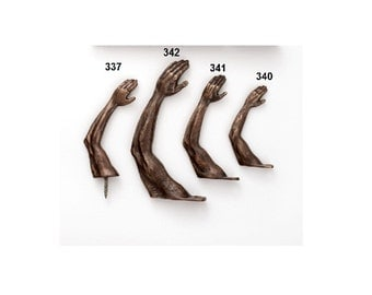 Arm Hook in Bronze  (large)- Individual wall hook