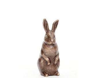 Rabbit in Bronze - small figurine standing - Currently Out Of Stock, Will be Available August 15, 2016