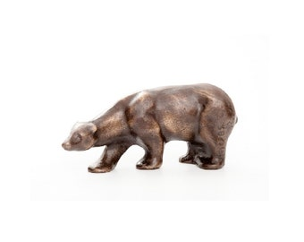 "Polar Bear in Bronze - 5"", standing bear"