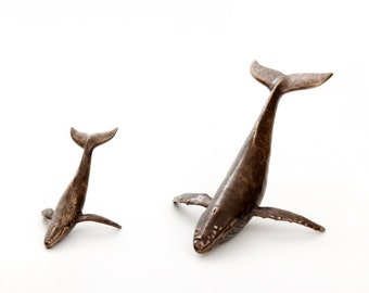 "Humpback Whale Calf in Bronze - 5 and 1/4"", calf only in this listing"
