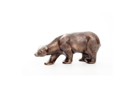 "Polar Bear in Bronze - 5"", standing bear"