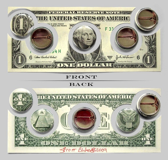 One Dollar Money Buttons