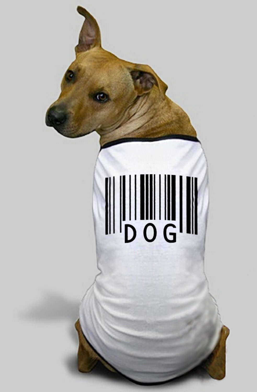 Custom barcode dog t shirt by barcodeart on etsy for Custom pet t shirts