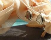 Gold-plated, Black Diamond Fancy Rosecut Glass Earrings